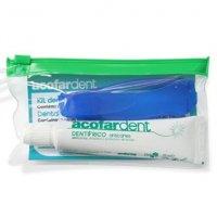 Kit de viaje neceser con pasta de dientes y cepillo pequeño Acofar