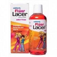 Colutorio Flúor Lacer uso diario sabor fresa 500 ml