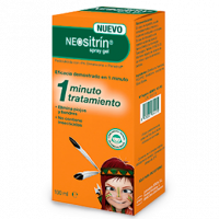 Neositrín antipiojos 1 minuto spray gel 100ml