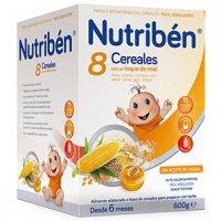 Nutribén 8 cereales y miel a partir de 6 meses 600g