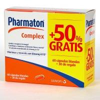 Pack Pharmaton complex 60 cápsulas blandas + 30 de regalo