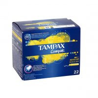 Tampax compak tampon regular 22 unidades