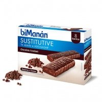 Bimanan Sustitutive sabor chocolate fondant 8 barritas