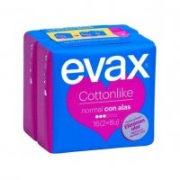 Evax cottonlike compresas normal alas 16 ud (2x8ud)