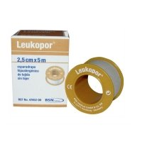 Leukopor esparadrapo 2.5 x 5 cm