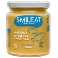 Smileat potito ecológico de verduras, con lubina y merluza +8 meses 230 g