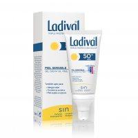 Ladival gel crema facial sin Color SPF50+ Pieles Sensibles o alérgicas oil free