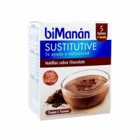 Bimanan Sustitutive Natillas sabor Chocolate 5 sobres + 1 gratis