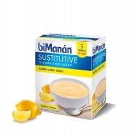 Bimanan Sustitutive Natillas sabor Limón 5 sobres + 1 gratis