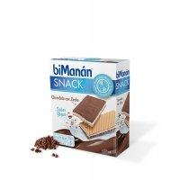 Bimanan Snack 6 barritas de chocolate con leche rellenas de yogur