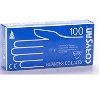 Corysan guantes de latex 100 unidades Talla G (grande)