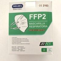Pack 20 mascarillas FFP2 NR negra homologación EN149:2001+A1:2009