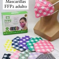 Pack 10 mascarillas FFP2 NR cuadros vichy colores homologación EN149:2001+A1:2009