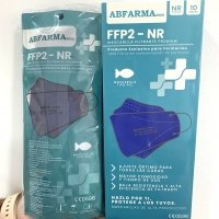 Pack 10 Mascarillas FFP2 tipo pez azul marino